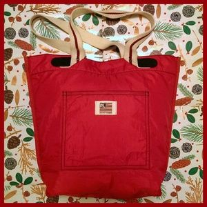 Polo Jeans Company Ralph Lauren-Red Nylon Tote Bag